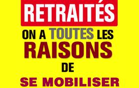 Manif des retraités : jeudi 31 janvier à 10h30, préfecture de Limoges | UD  CGT 87